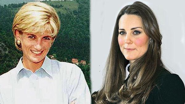 戴安娜王妃与凯特王妃画像.  -婆媳比拼 王室家族为何更喜欢凯特