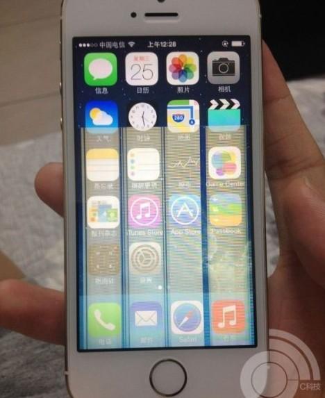 苹果5s手机屏幕花屏 ,苹果5s屏幕出现花屏